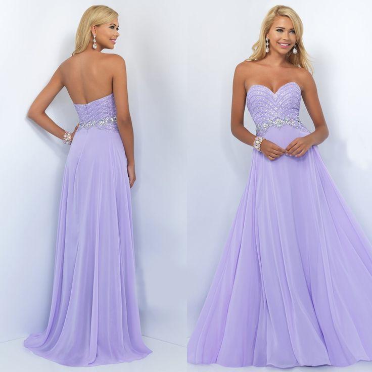 Long Strapless Sweetheart Chiffon Prom Dress by Blush