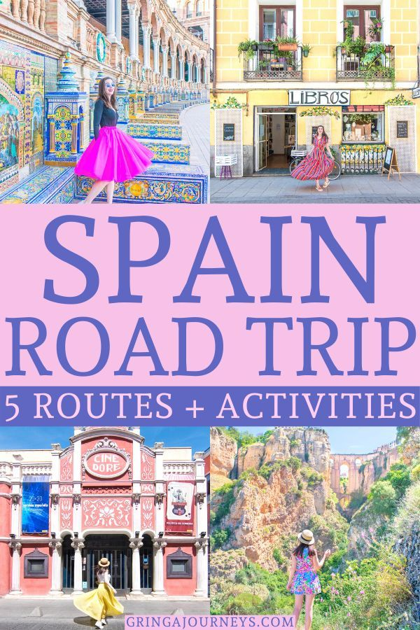 5 Amazing Spain Road Trip Ideas Itineraries What To Do Europe Travel Spain Road Trip Spain