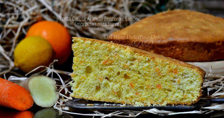 #TORTA #CAROTE + #ARANCIA + #LIMONE + #ZENZERO (senza burro) MORBIDA #Ricetta ►https://www.facebook.com/Dolcipocodolci/ ► http://blog.giallozafferano.it/dolcipocodolci/torta-carote-arancia-morbida-senza-burro/ #recettes #dolci #veloci #colazione #facili #torte #pinterest #zenzero