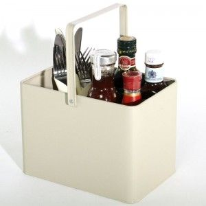 French Grey Condiment Bucket £7.70 + VAT www.bhma.co.uk  01353 665141 #condiment #holder #cutlery #frenchGrey