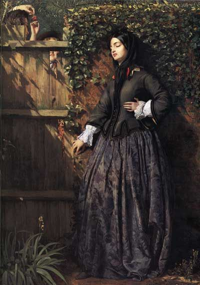 Philip Hermogenes Calderon -  From the beginning he was inspired by the Pre-Raphaelites, and some of his work showed the detail, deep colors, and realistic forms that characterize the style.