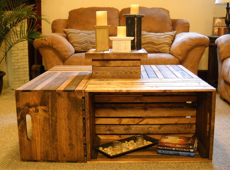 Cabin Decorating Room Ideas Crate Coffee Tables Furniture