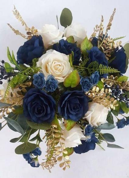 34 Trendy Brautstrauß Navy Gold  – Bridal Bouquets