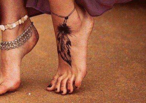 me encanta Tatuajes en el pie