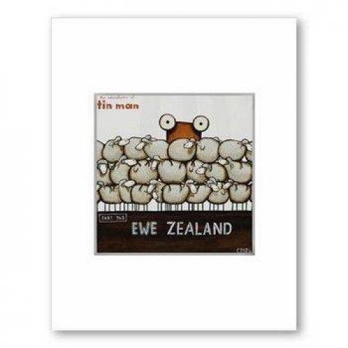 Tin Man Ewe Zealand 2 by Tony Cribb Matted Print
