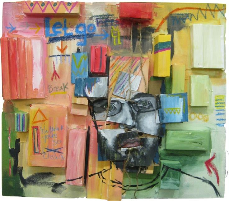 Mixed media painting by Tiffany Thomas