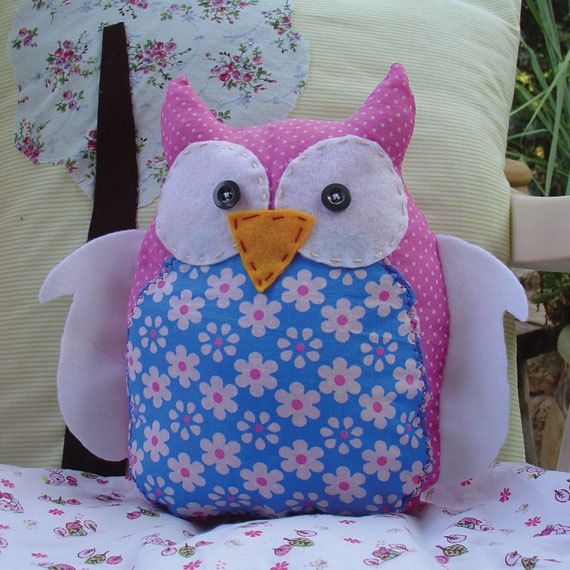 Owl pillow - new plush owl pillow nursery room decor. $28.00, via Etsy.