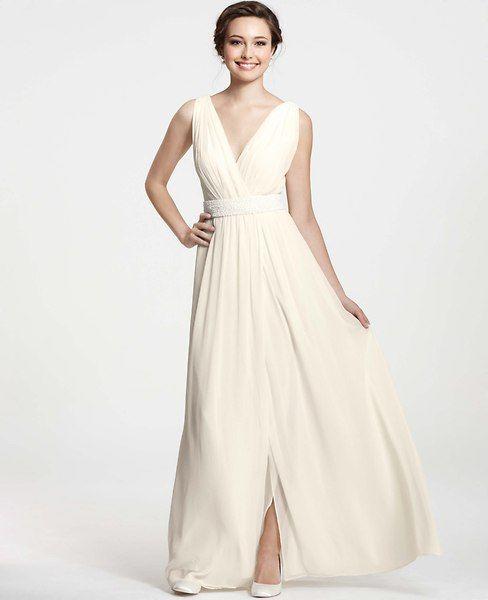 Ann Taylor - AT Wedding Dresses - Goddess V-Neck Wedding Dress  BELT NOT INCLUDED