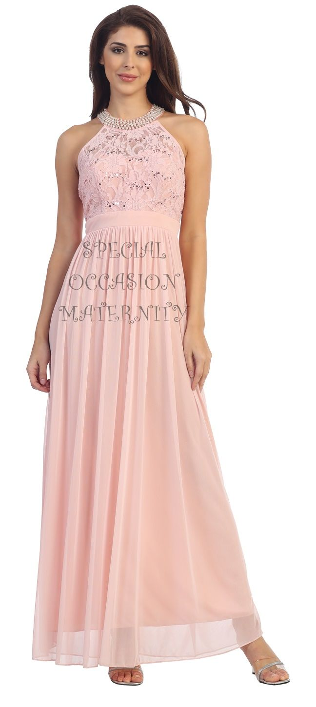 198 best maternity dresses images on pinterest maternity dresses long blush pink maternity bridesmaid gown cute maternitydresses babybump bumpstyle ombrellifo Gallery
