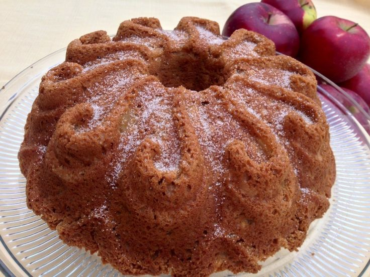 Best Apple Cake!!!  Made with just a Spice Cake mix and fresh apples.