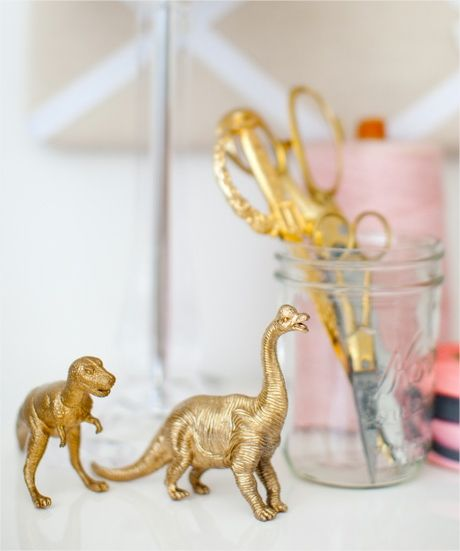 Quirky home decor (ahem, golden dinos) Article originally posted by Michele Cusick