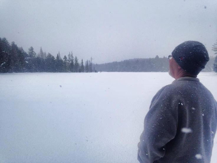 Looking out at beautiful Algonquin Park Winter Camping