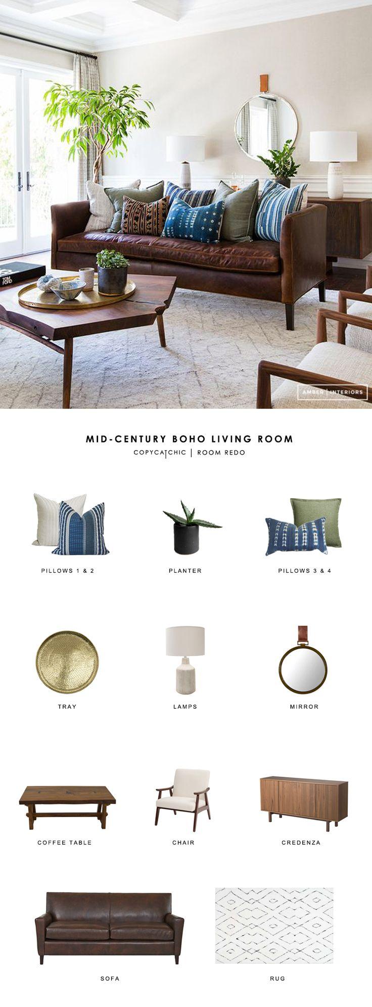 Copy Cat Chic Room Redo | Mid Century Boho Living Room | Copy Cat Chic | Bloglovin'