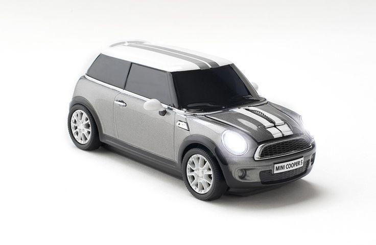 Mini Cooper S Dark Silver Wireless Mouse