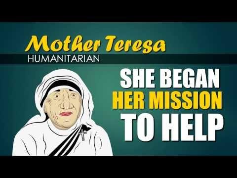Mother Teresa (Biography for Children) Youtube for Kids (Women's History Month) - YouTube