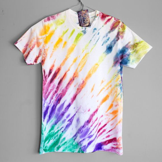 RIPPLE. 100% cotton T shirt. Hand dyed. Unique t shirts. by Smukie