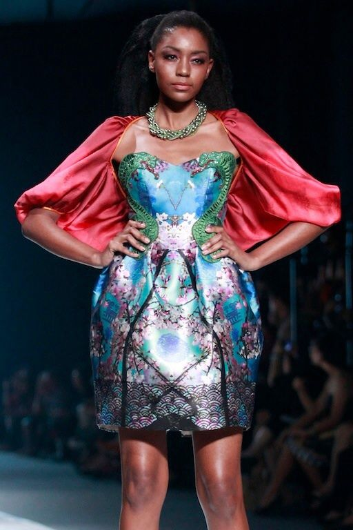 #BILLYTJONG Our 1st Ready To Wear Printed dress on Jakarta Fashion Week13 on Nov 2012 Look 3a
