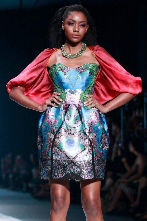 #BILLYTJONG Our 1st Ready To Wear Printed dress on Jakarta Fashion Week13 on Nov 2012 Look 3a