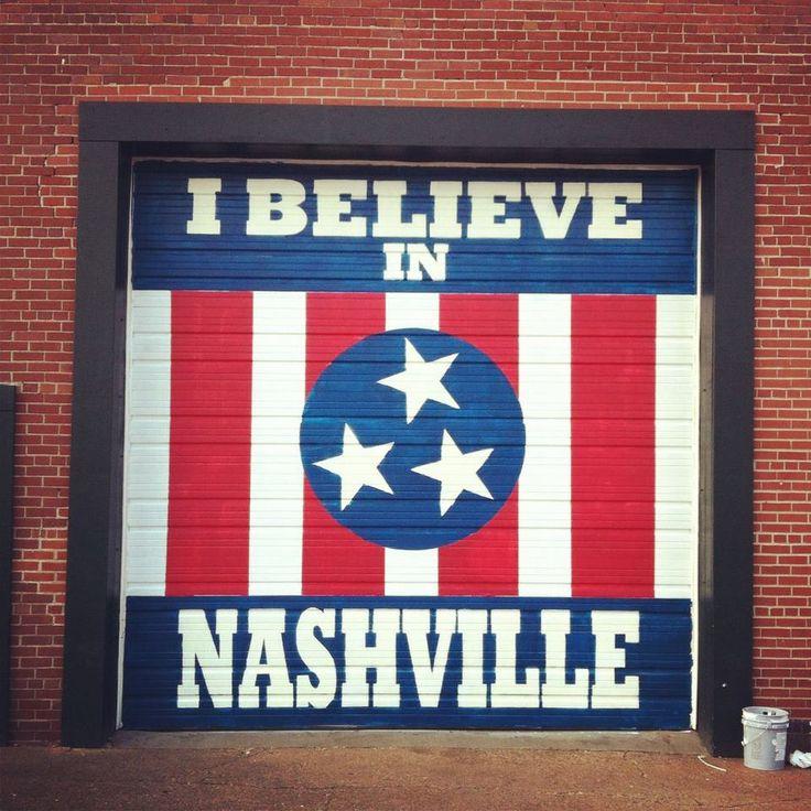 I Believe in Nashville sign at Marathon Music Works!!