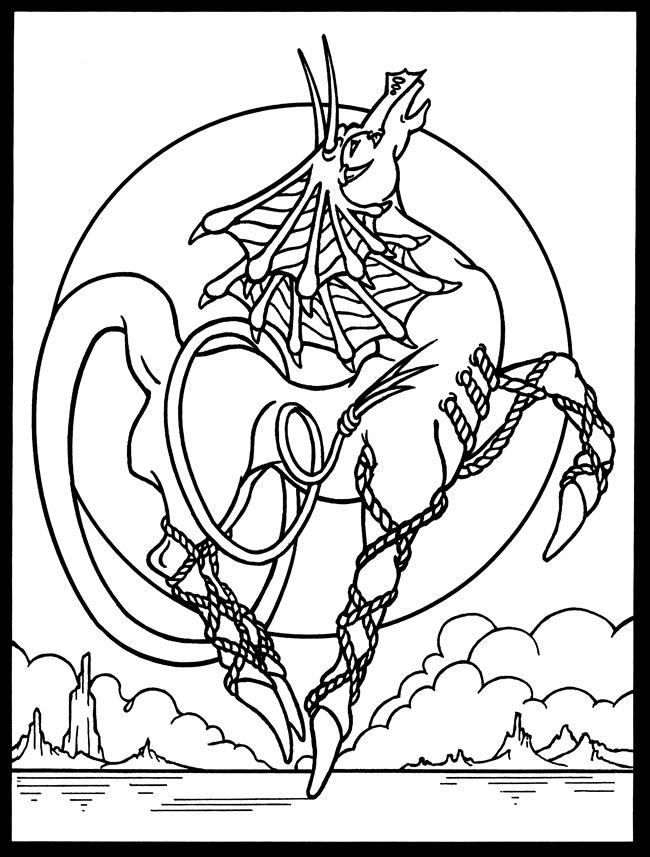 799 best Fantasy Coloring Pages