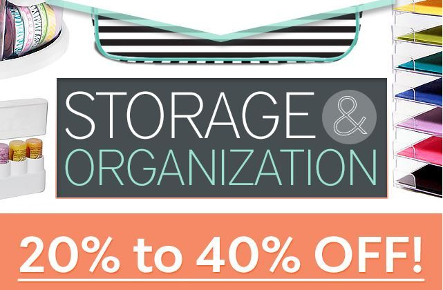 #organizing a challenge? SAVE BIG right now on #storage and #organization products for your #craftroom, #sewingroom #quiltingroom or #artstudio! Click this image to head over to the BIG SALE before it ends tonight! #crafting #cardmaking #stamping #scrapbooking #sewing #quilting #mixedmedia #artjournaling (affiliate link, but no extra cost for you!)