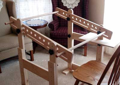 trestles for slate frames used in hand embroidery - Embroidery Frames