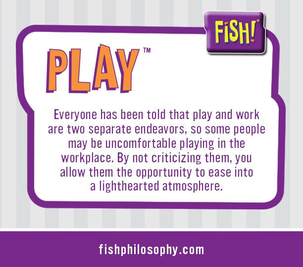 fish philosophy teamwork Fish philosophy by well imagine that sue stevenson is an experienced, teacher, facilitator and trainer and accredited fish training provider.