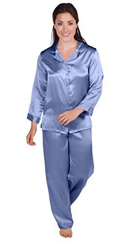 Womens Silk Pajamas Set Sleepwear - Morning Dew (Kashmir Blue, Large) - Women's PJ Set PJs Pants Bottoms; Christmas Gifts Ideas Women Wife Mom Mother Girlfriend Fiancee WS0001-KHB-L - http://www.fivedollarmarket.com/womens-silk-pajamas-set-sleepwear-morning-dew-kashmir-blue-large-womens-pj-set-pjs-pants-bottoms-christmas-gifts-ideas-women-wife-mom-mother-girlfriend-fiancee-ws0001-khb-l/