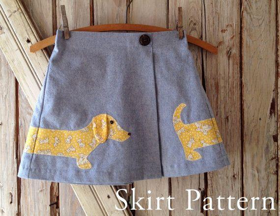 Lexi Girl's Applique Skirt PDF Sewing Pattern. von RubyJeansCloset