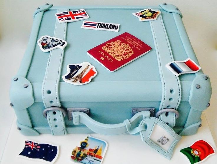 Incredible suitcase cake