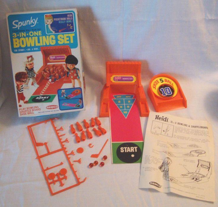 Remco Spunky Bowling Shuffleboard Skeebal Play Set for