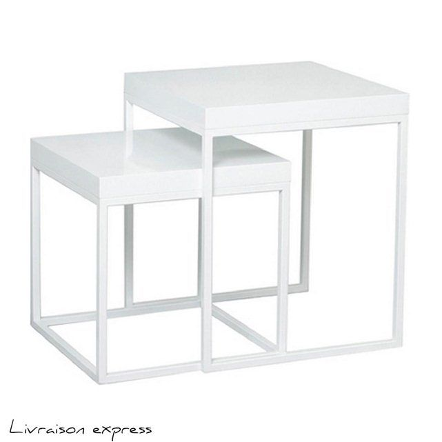 table gigogne plexiglas table gigogne blanc brillant kamil atylia with table gigogne plexiglas. Black Bedroom Furniture Sets. Home Design Ideas