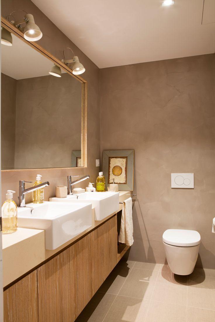17 mejores ideas sobre lavamanos con mueble en pinterest - Mueble de bano madera ...
