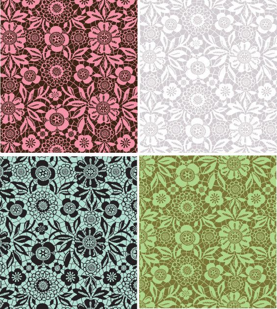 Flower Stencils | Skylars Lace Floral Stencil | Royal Design Studio, for a bathroom wall with delft colors?