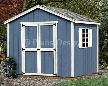 8 x 8 yard storage structures gable roof style shed plans - Garden Sheds 8x8