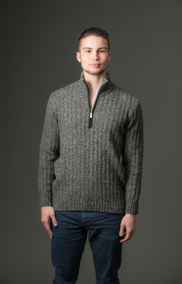 This is a great light-weight every-day ribbed texture jumper with a half zip so you can regulate your body temperature and vent a bit of extra heat away. Throw this over a t-shirt for casual weekend style and convenience or the half zip works well over a work shirt as well. Available in two great colours.