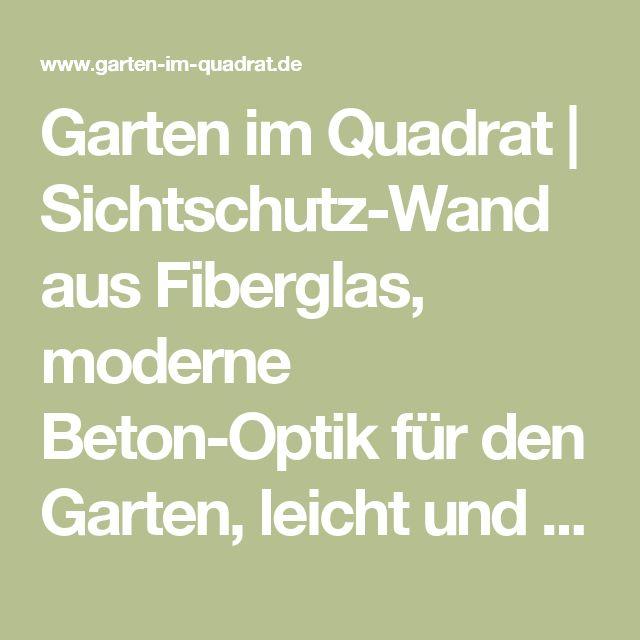 Garten im Quadrat | Sichtschutz-Wand aus Fiberglas, moderne Beton-Optik für den Garten, leicht und wetterfest