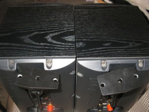 Paradigm-Atom-V2-Main-Stereo-Speakers-Black-Ash-with-WALL-MOUNT-Excellent