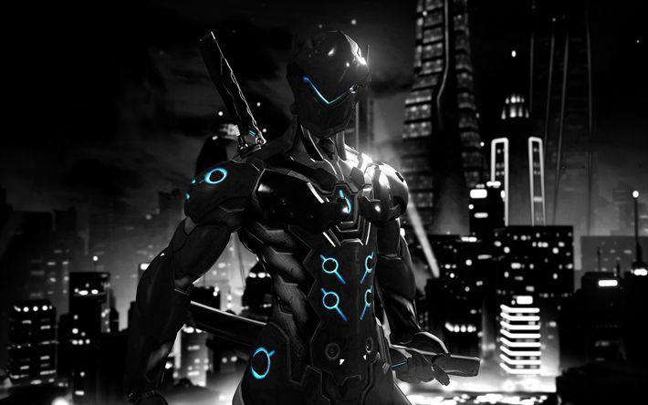 Descargar fondos de pantalla 4k, Genji, cyber warrior, de Supervisión