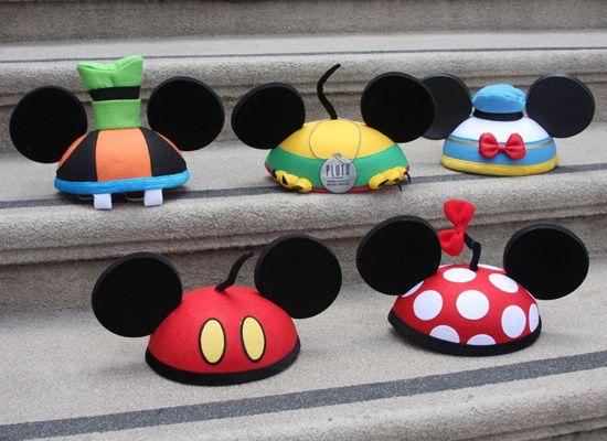 Goofy, Pluto, Donald, Mickey & Minnie EARS