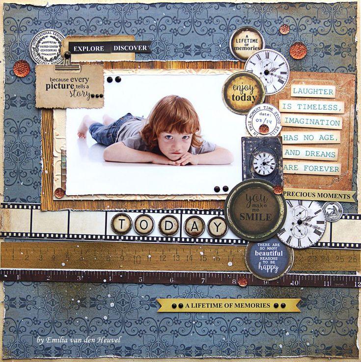 A+Lifetime+of+Memories+{Kaisercraft+&+Merly+Impressions} - Scrapbook.com