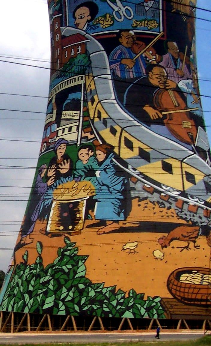 Colored tower - Johannesburg - South Africa