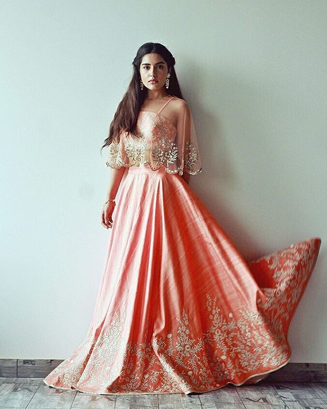 "148 Likes, 8 Comments - All About Eve India (@allabouteve_in) on Instagram: ""This @nayanarahejaofficial caped lehenga what fairytales are made of. Create your own Cinderella…"""