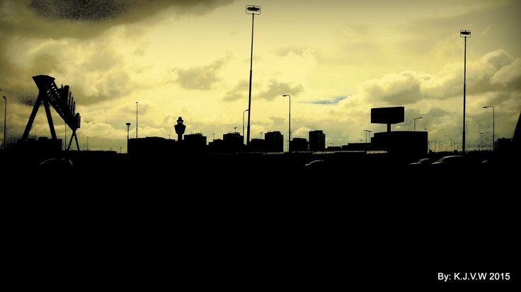 Schiphol Skyline | One of my Favorite's of that day.