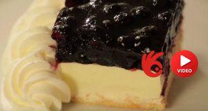 Borůvkový dort se šlehačkou