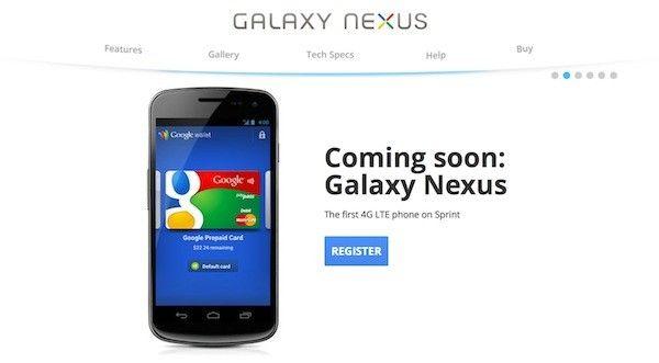 Galaxy Nexus coming for Sprint
