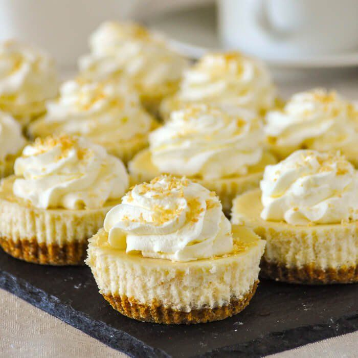 Coconut Cream Cheesecake Cupcakes - at 224 calorie each these mini cheesecakes are exactly the same as our full sized version, in a portion controlled size.