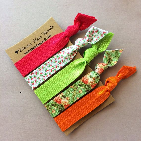 The Cameron Hair Tie Ponytail Holder Collection by Elastic Hair Bandz on Etsy, $5.25