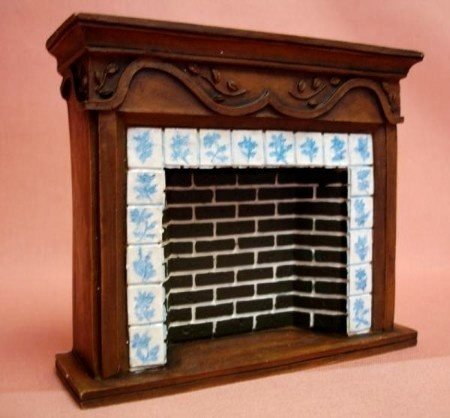 Dollhouse Miniature French Country Fireplace