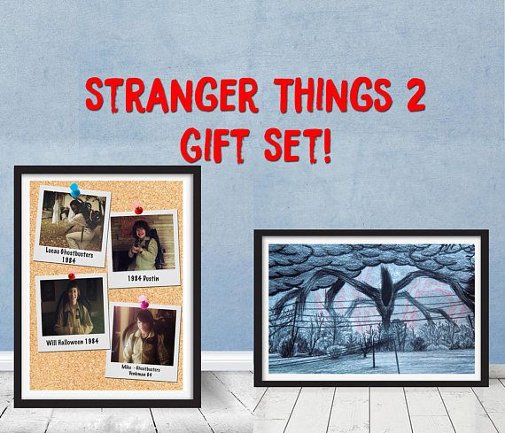 Stranger Things Season 2 Will S Shadow Monster Drawing And Kids Halloween Ghostbuster Costume Polaroid Pi Shadow Monster Stranger Things Season Stranger Things
